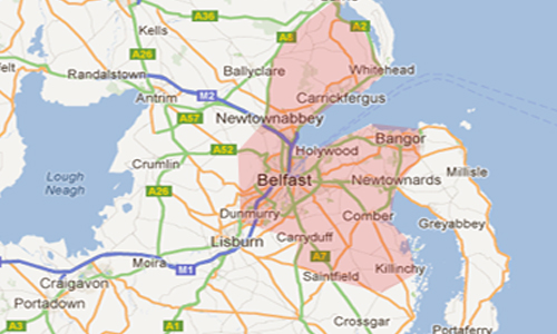 Where We Cover, Blocked Drains Bangor & Belfast Wide